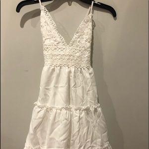 ZAFUL White ruffled loose dress